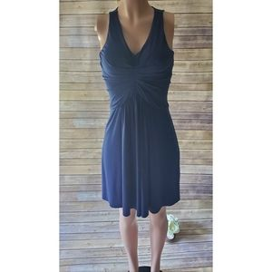Ann Taylor Petite Dress Jersey Halter Indigo 00P